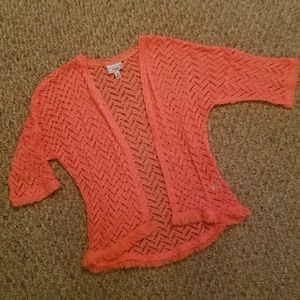 Cute coral knit cardigan